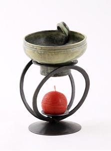 Obrázek z Kovaná aromalampa MUŠLE