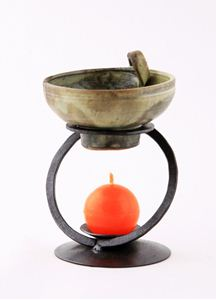 Obrázek z Kovaná aromalampa OBRUČ